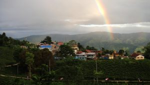 Rainbow during the trek | Top Tips for Monsoon Trek